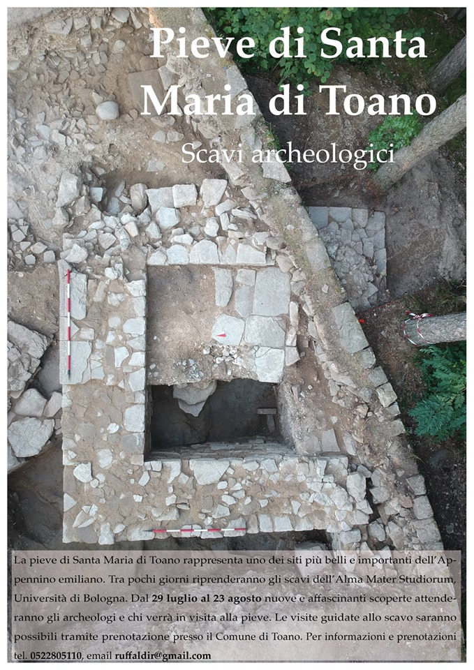 A Toano riprendono gli scavi alla Pieve di Santa Maria in Castello e saranno social