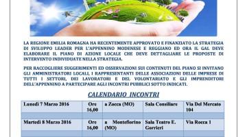 Piano di sviluppo locale Leader 2014 – 2020 per l'Appennino reggiano e modenese