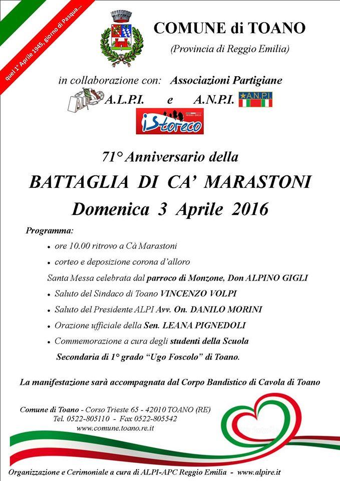 Commemorazione Ca' Marastoni