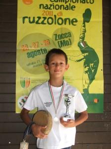 Giacomo Ceresoli premiato ai campionati italiani
