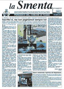 Giornale Comne di Toano La Smaneta dicembre 2012